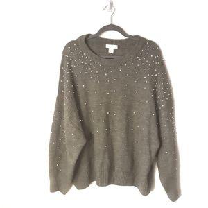 H&M Green Pearl Sweater